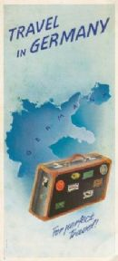 Travel in Germany, German railway poster - 1938